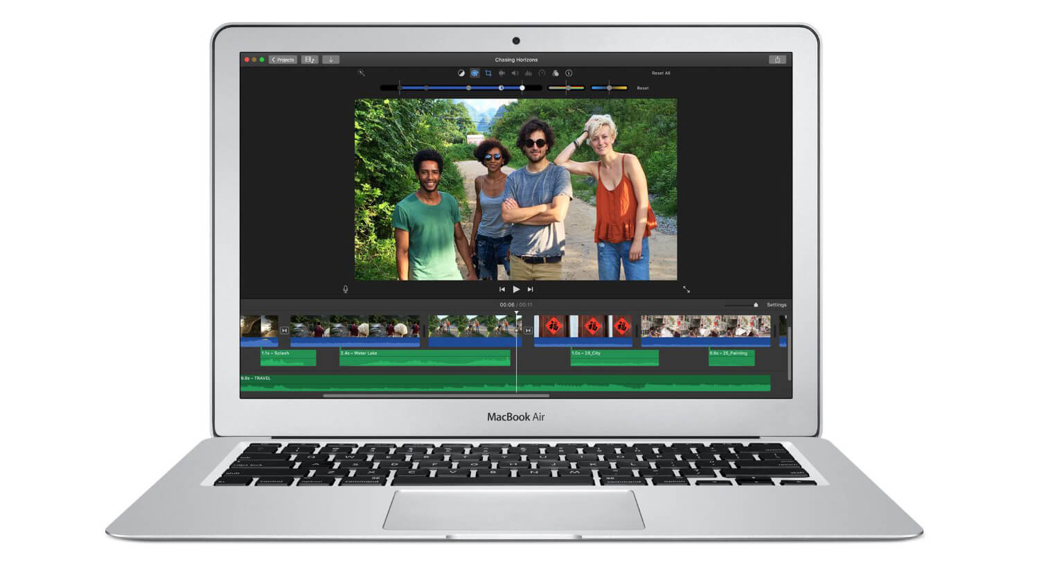 Видеоредактирование на MacBook Air 13 2017 (MQD32)