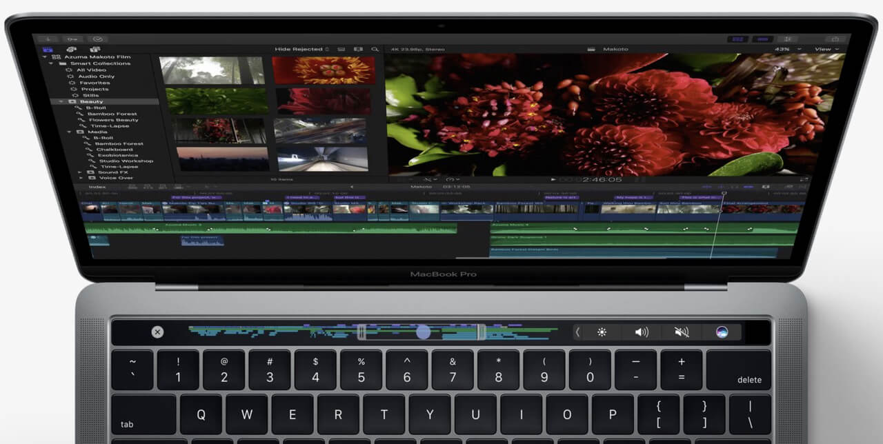 Touch Bar на MacBook Pro 13 Space Gray 2017 (MPXW2)