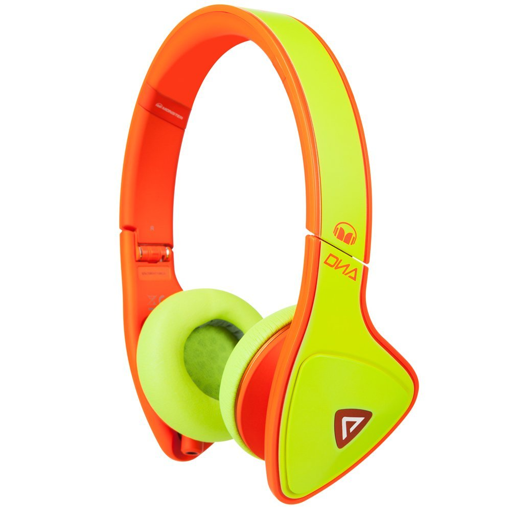 Купить Наушники Monster® DNA Neon On-Ear Headphones Yellow on Neon Orange