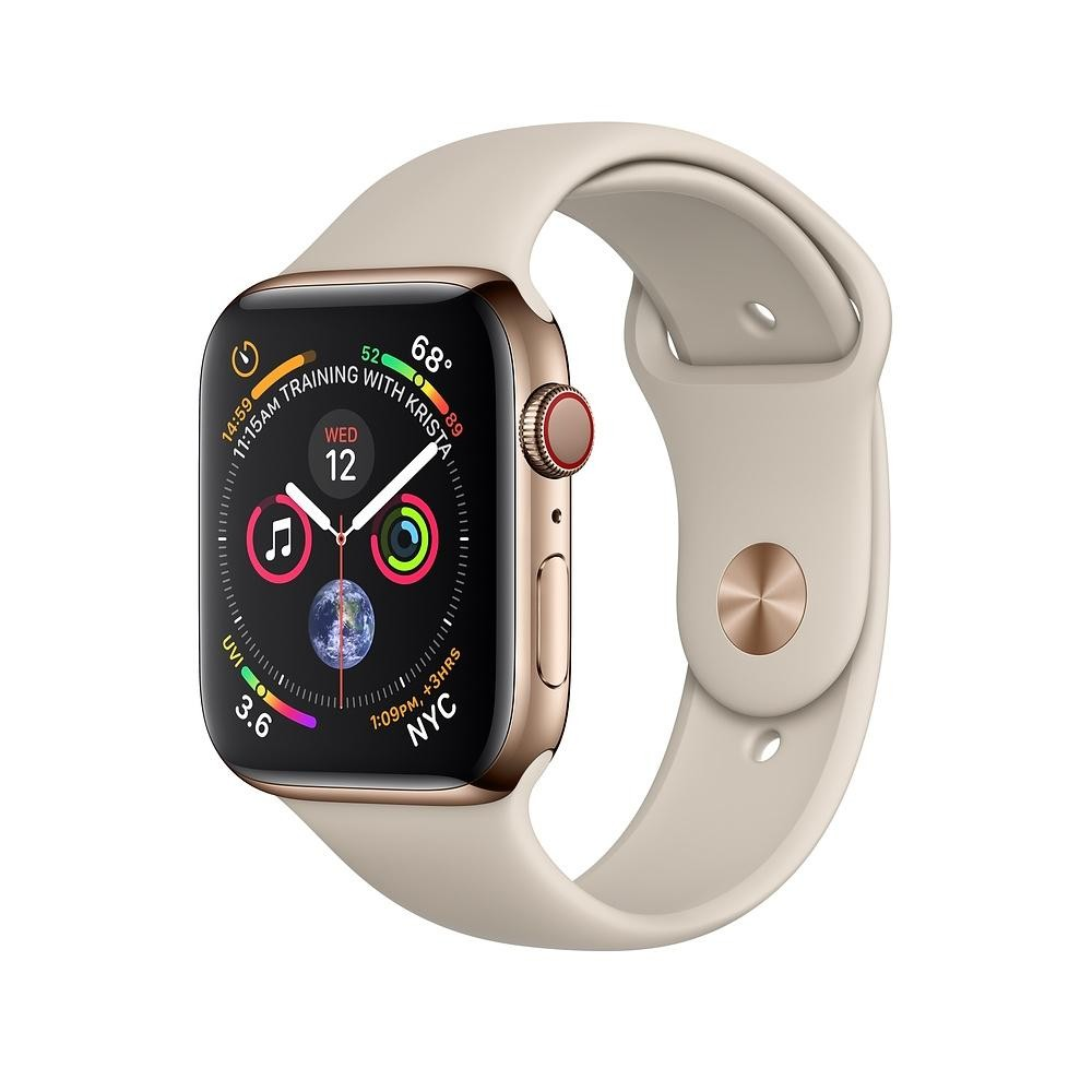 Купить Apple Watch GPS Cellular 40mm Gold Stainless Steel Case with Stone Sport Band (MTUR2 / MTVN2)