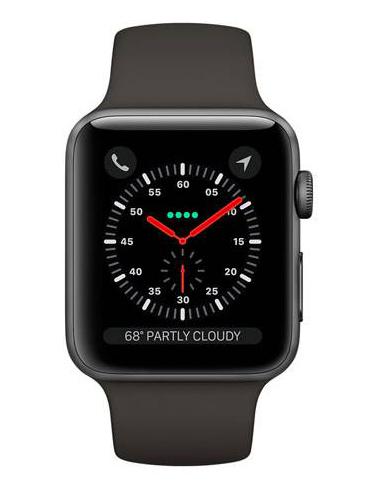 Apple Watch Series 3 GPS Cellular 42mm Gray Aluminum c. w. Gray Sport b. (MTGT2)