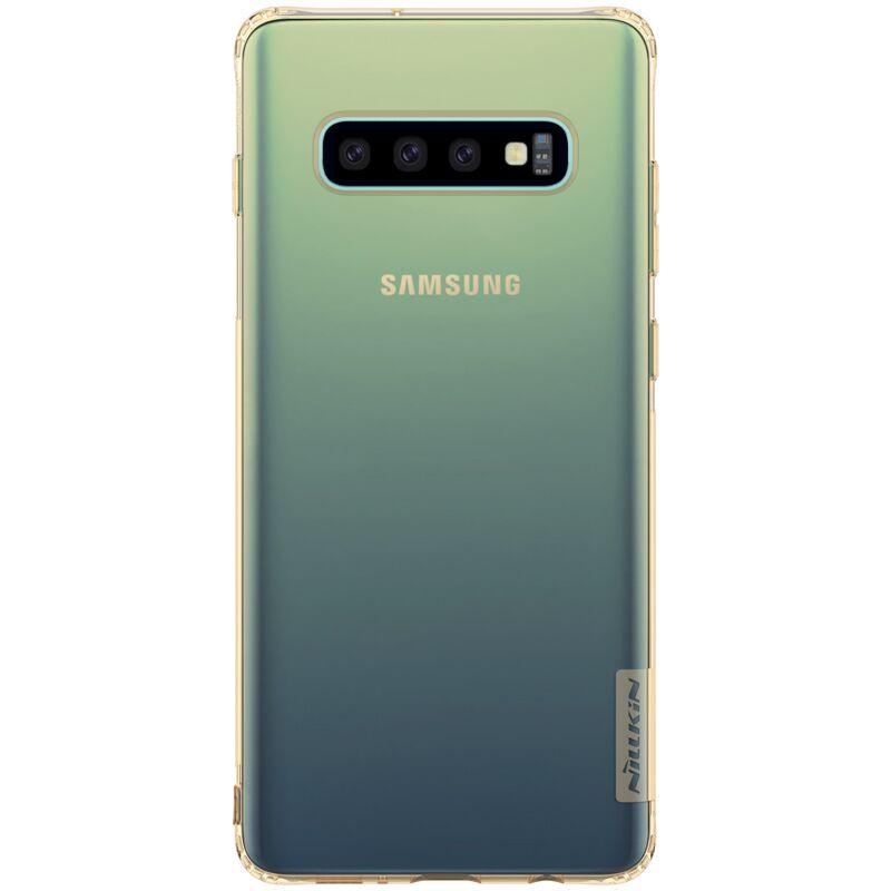Купить Смартфоны, Чехол Nillkin Nature Series TPU для Samsung Galaxy S10 Plus Gold-Clear